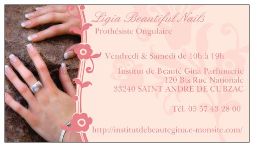 Carte De Visite Ligia Beautiful Nails